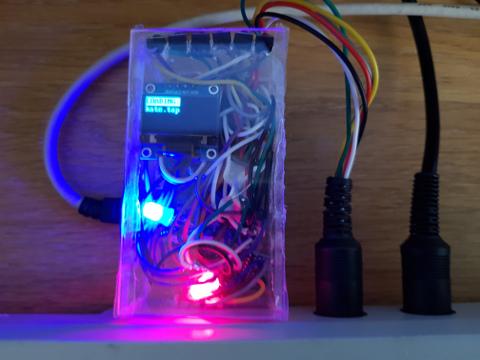 Pi1541 running on a pi zero, loading a tape